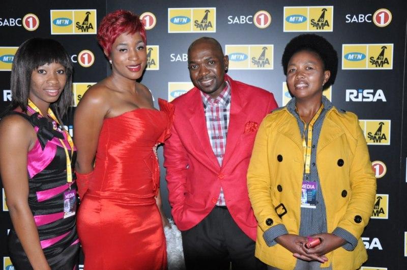 Boitshoke Ngake,Lerato Ngubane and Muzi Ngubane and Nthabiseng Tau enjoying after party at sun city SAMAs